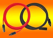 Solarkabel rot und schwarz 6mm² inkl. montierter MC4 Stecker 1m - 50m  PV Kabel