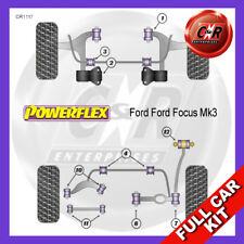 Ford Focus Mk3 (11on) Front Wbone Rear Bushes NoLift & Caster Powerflex Full Kit
