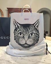 Gucci Cat Canvas Tote Bag - Unisex