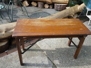 Antique Oak Desk with Folding Legs Travelling / Campaign Table Stamped SCC