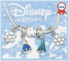 5 pcs Disney Elsa Anna Princess Dress Olaf Charms European Murano Beads Set New