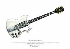 Keith Richards' 1964 Gibson SG Custom ART POSTER A3 size