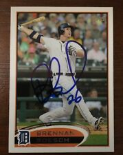 BRENNAN BOESCH 2012 TOPPS AUTOGRAPHED SIGNED AUTO BASEBALL CARD TIGERS 166