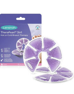 Lansinoh TheraPearl 3in1 Hot or Cold Breast Therapy (2 pack With Covers) *NEW*