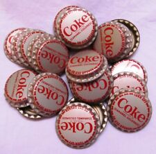 Coca-Cola Gold Bottle Caps 25 Each Coke Caramel Colored Twist Off or Use Opener