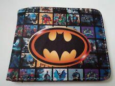 Batman Logo COOL Cartera Con Moneda Cremallera. Gratis P&P/.