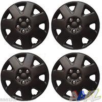 "Black 15"" Wheel Covers Hub Caps 15 Inch Wheel Trims Trim Set Of 4 ABS Plastic"