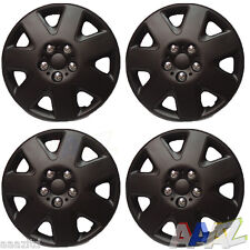 "Black 14"" Wheel Covers Hub Caps 14 Inch Wheel Trims Trim Set Of 4 ABS Plastic"