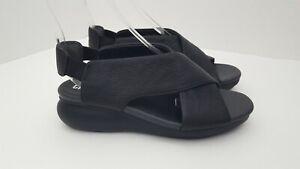 Camper Balloon Black Leather Platform Comfort Sandals Womens EU 36 US 5 $150