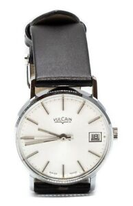 RARE VINTAGE VULCAIN P1614A Silver Mechanical Swiss WATCH 1960's NEW OLD STOCK