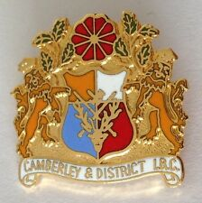 Camberley & District Bowling Club Badge Pin Rare Vintage UK (M18)