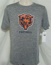 Chicago Bears Mens Size S TShirt Gray Polyester Genuine NFL Team Apparel NEW