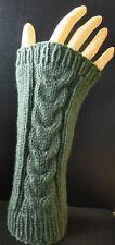 Stulpen Handstulpen Armstulpen Pulswärmer gestrickt handgestrickt Wolle grün