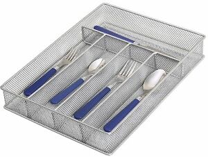 Mesh 5 Part  Drawer Cutlery Utensil Kitchen gadget Organizer Flatware tray 1133