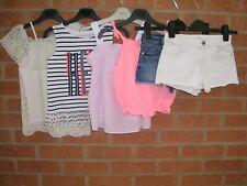 100% RIVER ISLAND Girls Bundle Shorts Summer Tops Age 7-8 128cm