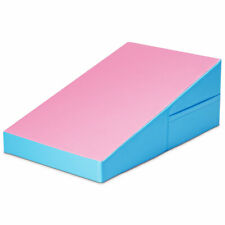 Incline Wedge Ramp Mat Indoor Exercise Gym Fitness Mat Tumbling Pink & Blue