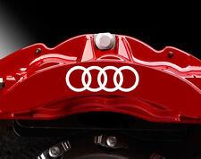 AUDI logo Premium Brake Caliper Decals Stickers. 6 x 50mm Audi TT Caliper decals
