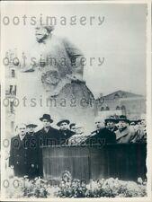 1961 N Khrushchev Dedicates Karl Marx Memorial Statue Moscow Russia Press Photo