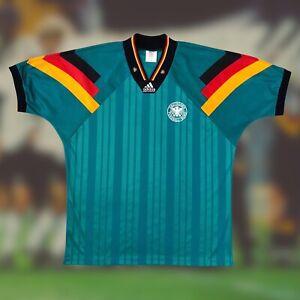 Germany 1992/94 International Away Soccer Jersey XL Adidas Camiseta Futbol
