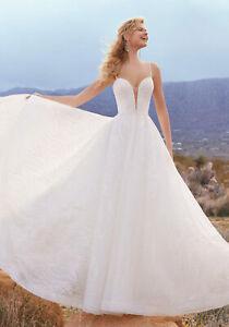 Mori Lee 2095 Size 12 GENUINE Ivory Wedding Dress Ivory With tags