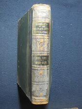 Library of the World's Best Literature Vol. XXI Rab-Rus [Hardcover] 1897