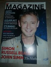 JOHN SIMM SIGNED ATG MAGAZINE SUMMER 2013 DR WHO & LIFE ON MARS