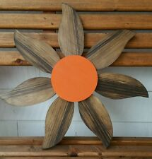 """16"""" wood wooden Rustic Daisy Flower Hanging porch-Garden-yard-U pick color/stain"""