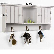 Wall Wooden Key Holder Shelves Cabinet Storage Hooker Rack Car Keys Organizer