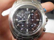 Citizen Eco drive chrono titanium cronografo titanio braccialato