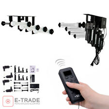 4-ROLLER ELECTRIC-MOTORIZED PHOTOGRAPHIC BACKDROP BACKGROUND SUPPORT SYSTEM