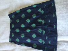 Lovely White Stuff summer skirt size 10! Charcoal grey green hatch 100% cotton