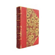 Cruelle Enigme - antiquarian 1893 French novel in decorative red leather binding