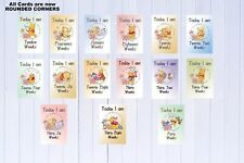 Pregnancy Milestone Cards Pkt of 30 Pooh Bear Mum to be Gift Baby Gift