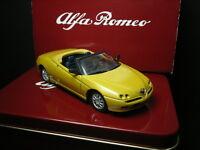 1/43 Alfa Romeo Spider 1995 Giallo Ocra Solido Cofanetto in Latta Tin Box