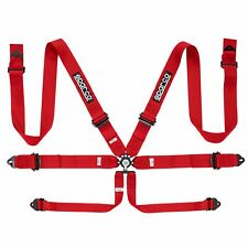 Sparco 6 Point Race Rally Car Racer Harness - Red