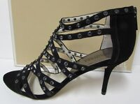 Michael Kors Size 8 Black Leather Jeweled  Heels New Womens Shoes
