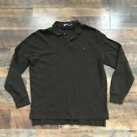 Polo Ralph Lauren Long Sleeve Rugby Polo Pullover Brown Mens XL Pony Logo Adult