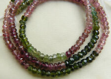 Tourmaline Faceted 3mm multi-color beads Natural premium AAA uniform facets