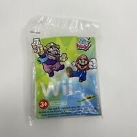 Wendy's Toy Kids Meal Nintendo Wii Two Sides Puzzle 2007 Mario Wario New Sealed