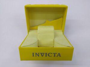 INVICTA Authentic Yellow Watch Box Storage Case Presentation Display LARGE