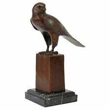 SU007 Noble Falcon Quality Lost Wax Bronze Statue - New!