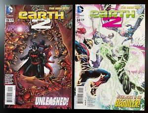 Earth 2 19 & 24 💥 NM+  🔑 1st Val-Zod!!  1st in Costume!  New Superman Movie!!