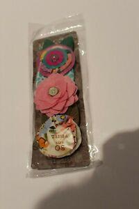 NWT Matilda Jane Watch Me Bloom Clip 2 rose floral hair clips 23313A
