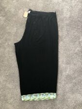 NEW Ulla Popken Plus Size 5X Cropped Black Pants. ULA 327