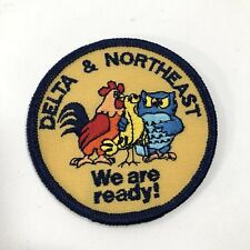 Vintage Delta & Northeast Airlines We Are Ready! Patch Birds NOS NEW Unused