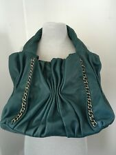 Soprano Leather Handbag w Chain Accent_Teal,Lined-NWT Shipping included Ontario