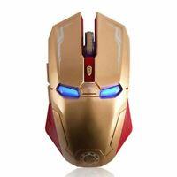 Souris de jeu sans fil, 6 boutons Sillencieuse Iron Man 2,4 G+recepteur