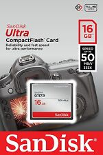 SanDisk 16gb Ultra Compact Flash Card 50mb/s for Canon Xf305 Xf300