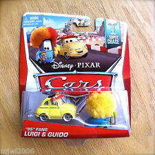 "Disney PIXAR Cars ""95"" FANS LUIGI & GUIDO 2014 SUPER CHASE diecast wig flags"