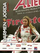 """2010 Carmen Jorda Indy Lights """"2nd issued"""" postcard"""